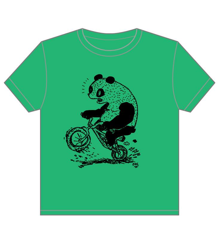 Bike Jump Rider Panda by sampratot