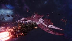 Battlefleet Gothic: Armada 2-Fleet Bakka vs Kraken by Vollhov