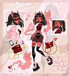 [Closed] Demon Girl Adopt Auction   depresenya