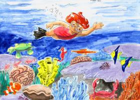 Eva Goes To The Beach Page 4 by KhairulHisham