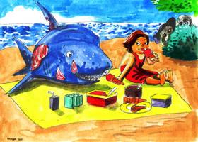 Eva Goes To The Beach Page 10 by KhairulHisham