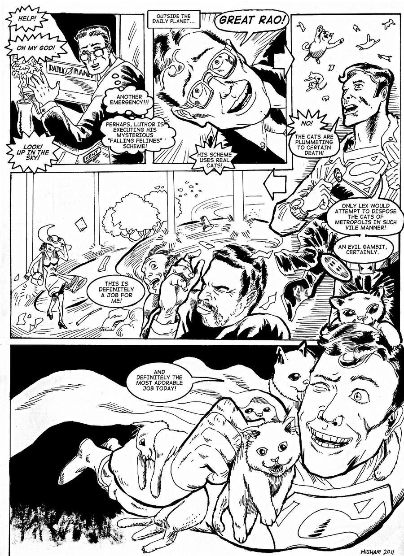 Superman Rescues Cats by KhairulHisham