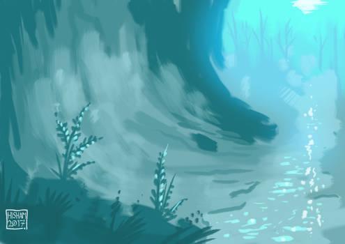 Speedpaint: Luminous Shades of Blue
