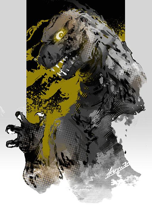 first Godzilla by ikuyoan