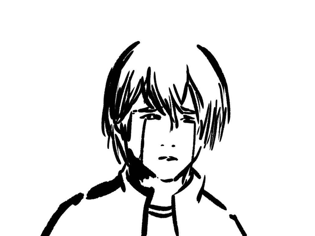 Sad boy sketch by denaltvega