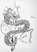 Dragon in the clouds by Lukis24