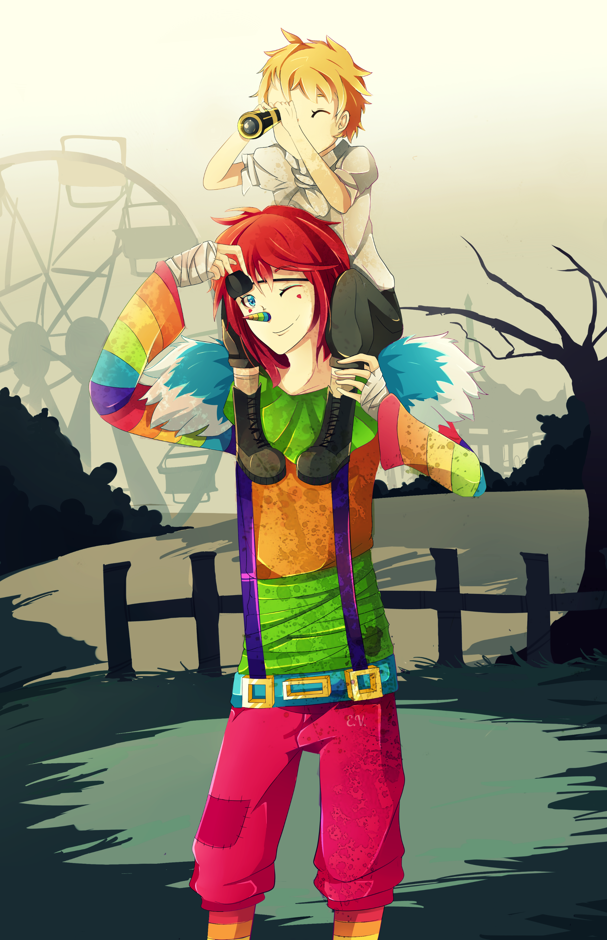 Laughing Jack , Le Clown  Great_times__laughing_jack_and_isaac_by_thehobbyhorse-d86hqyu