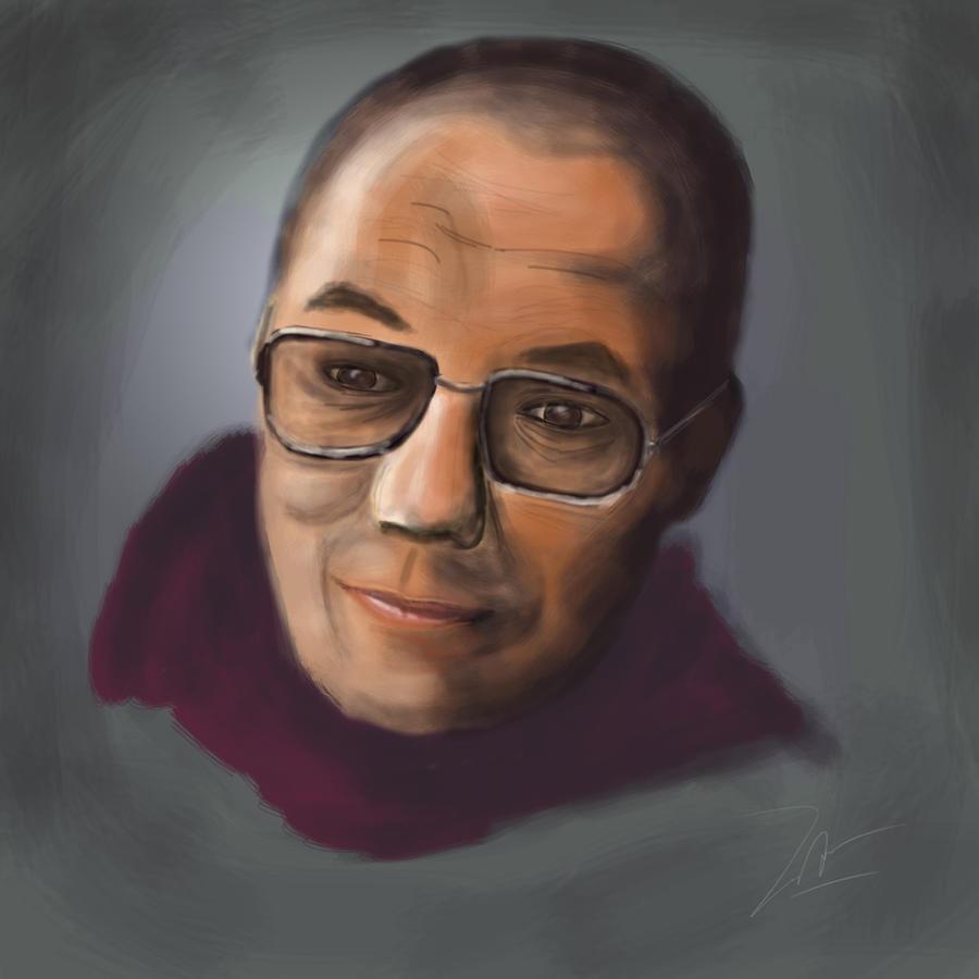 dalai lama by Duntiwan