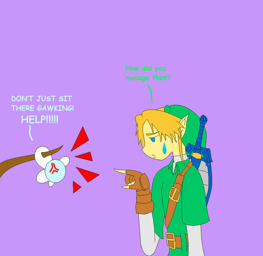 Link and navi for silver by jouyasha on deviantart