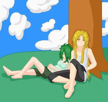 Asleep under a tree by JouYasha