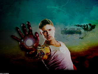 Jensen Ackles: I am Iron Man by xsaltandburnx