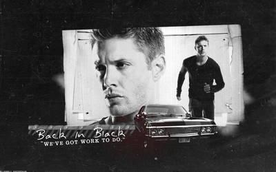 SPN: Back In Black - Dean by xsaltandburnx