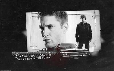 SPN: Back In Black - Dean+Sam by xsaltandburnx