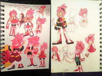 Amy Rose Sketchbook doodles Pt.2