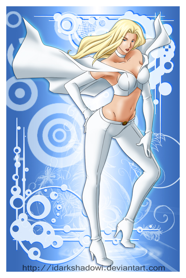 THE WHITE QUEEN EMMA FROST by darkshadowartworks