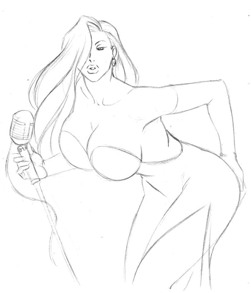 Jessica Rabbit sketch by IDarkShadowI