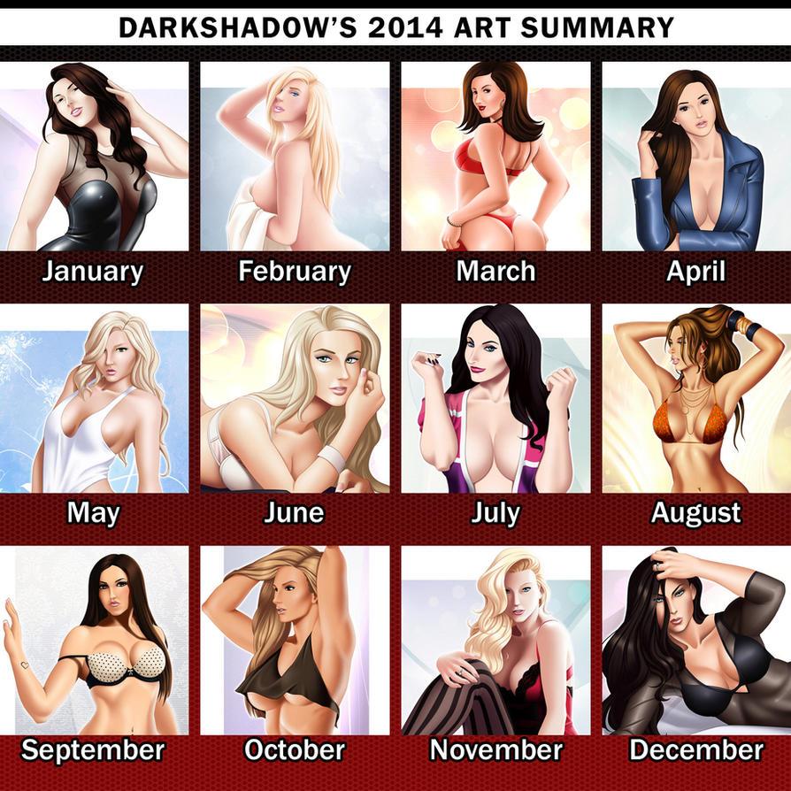 DarkShadow's 2014 Art Summary by IDarkShadowI