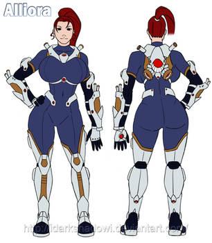 COMMISSION - Alliora character design by DarkShadowArtworks