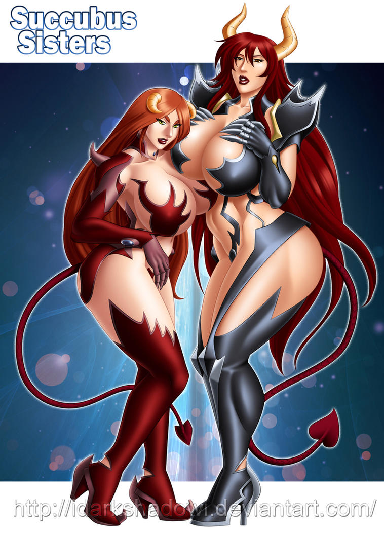 COMMISSION - Succubus Sisters by IDarkShadowI