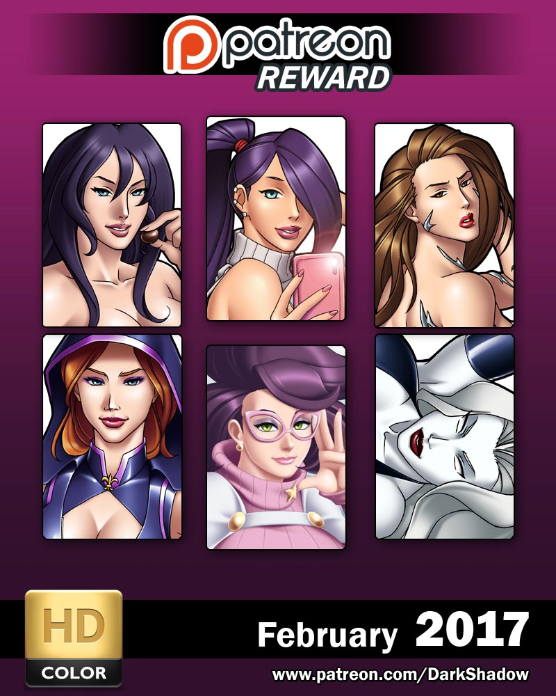PATREON REWARDS - 2017 February by IDarkShadowI