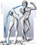 COMMISSION - Makoto marble transformation part2 by DarkShadowArtworks