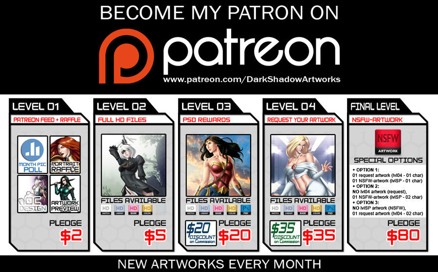 DARKSHADOW ON PATREON 2018