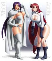COMMISSION - Violet and Annie cosplayers by DarkShadowArtworks