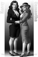 COMMISSION - Kasey and Samantha Casablanca by DarkShadowArtworks
