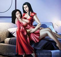 COMMISSION - Hane's Birthday kiss by DarkShadowArtworks