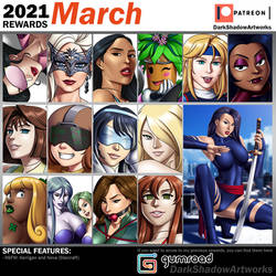 PATREON REWARDS - March 2021
