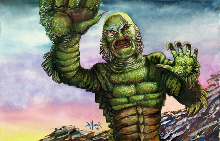 Poster Print Bride of Frankenstein Tattoo Flash  Tattoo