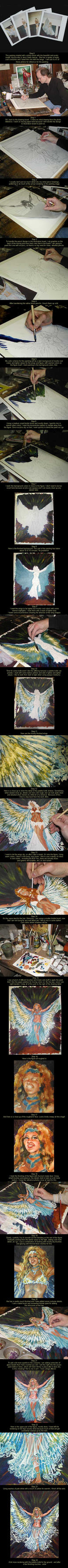 Acrylic painting tutorial by kimdemulder