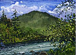 Esopus Creek ACEO by kimdemulder
