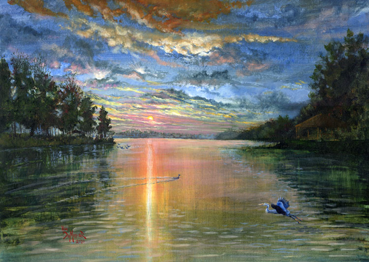 Lake Anna Sunset by kimdemulder