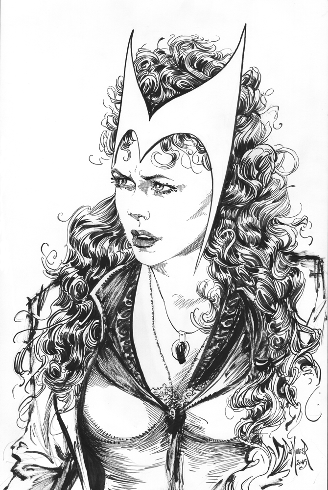 Scarlet Witch. by kimdemulder