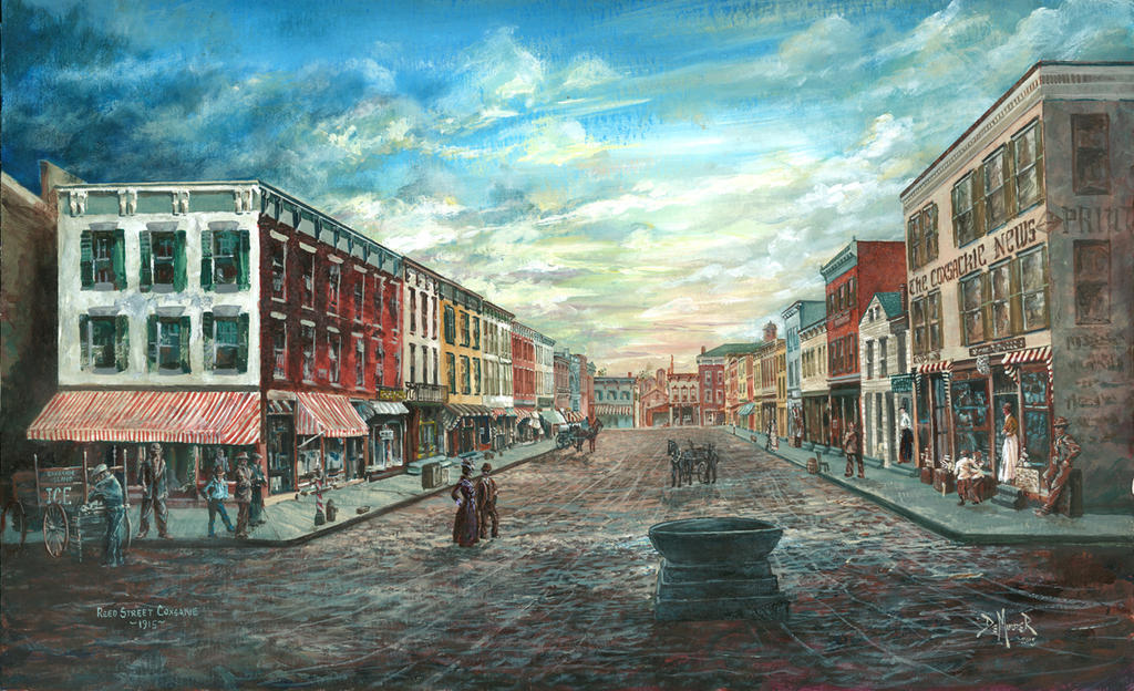 Reed St, Coxsackie 1915 by kimdemulder