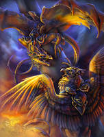 Clash of Legendary Wings by Fleurdelyse