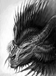 Dragon Portrait - 02 by Fleurdelyse