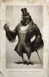 Gentleman Crow by Fleurdelyse