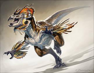 Frilled Raptor by Fleurdelyse