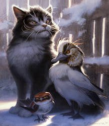 The Duck, Cat, and Bird - Peter and The Wolf by Fleurdelyse
