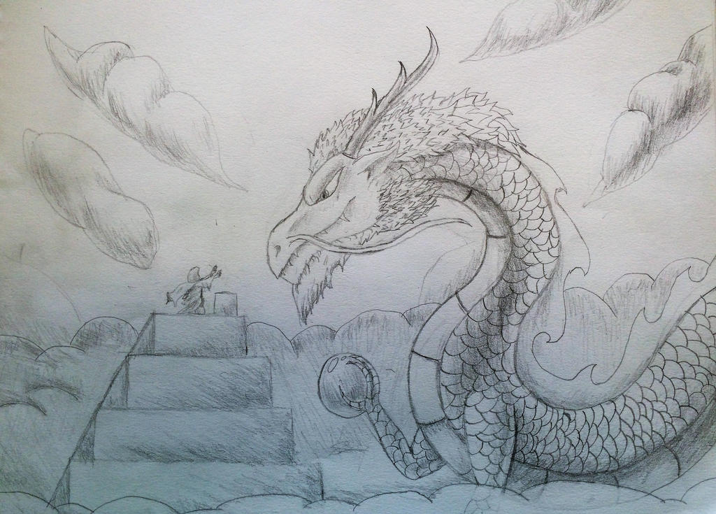 Line Art Dragon : Dragon worship by phantombasilisk on deviantart