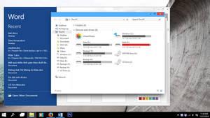 Windows 10 Build 9901 theme for Windows 8.1