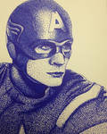 Captain America pointillism
