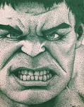 The Hulk pointillism