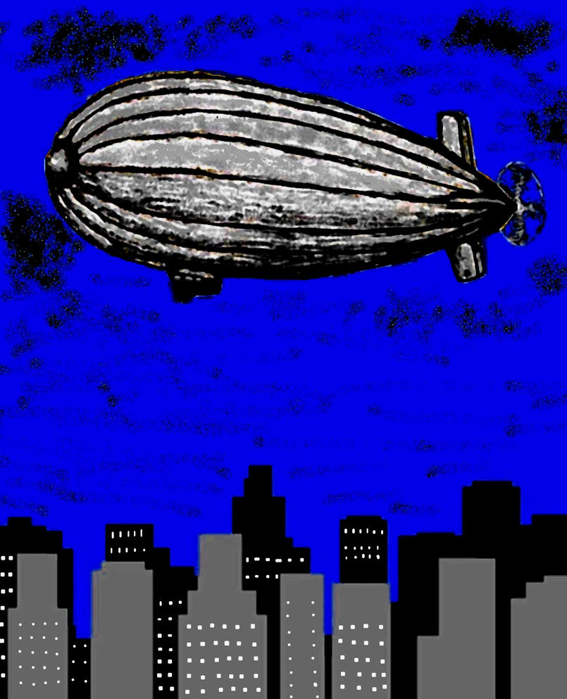 Blimp in the night by Gnoll-El