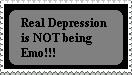 Depression is Serious Stamp by TheDauphine