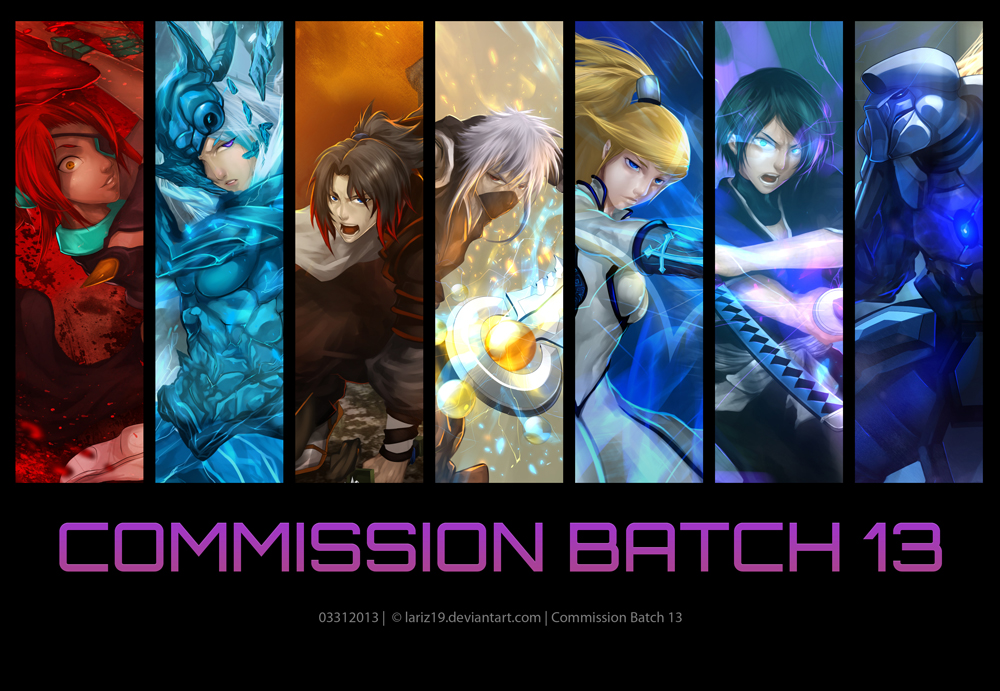 Commission Batch 13 by LarizSantos