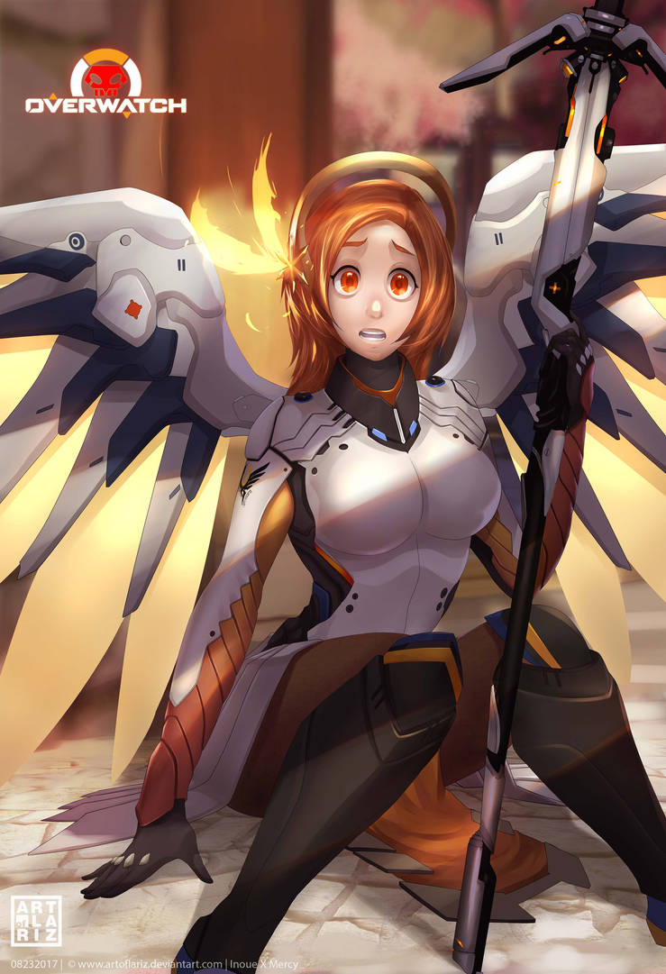 Inoue X Mercy_BleachOverwatch Crossover