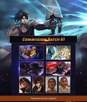 Commission Batch 61 List